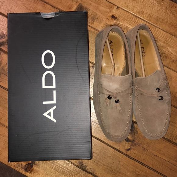 Aldo Other - ALDO Freinia Suede Slip on loafer Tan With box